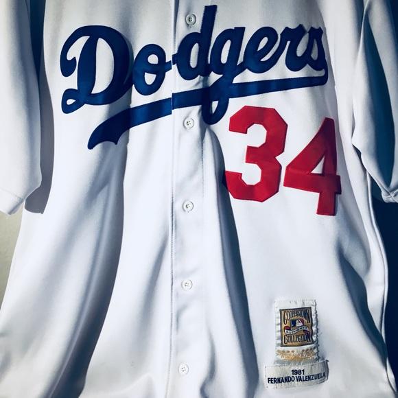 check out 58c20 1461f Los Angeles Dodgers Fernando Valenzuela Jersey